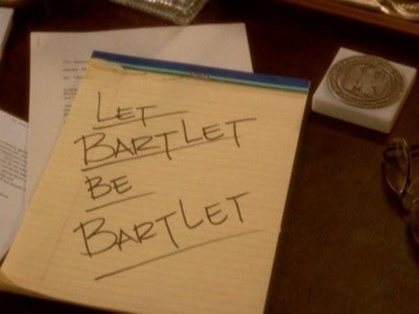 The West Wing - Season 1 Episode 19: Let Bartlet Be Bartlet