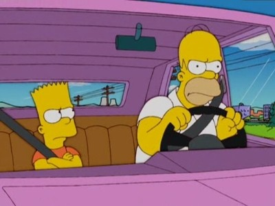 The Simpsons - Season 17 Episode 11: We're on the Road to D'oh-where