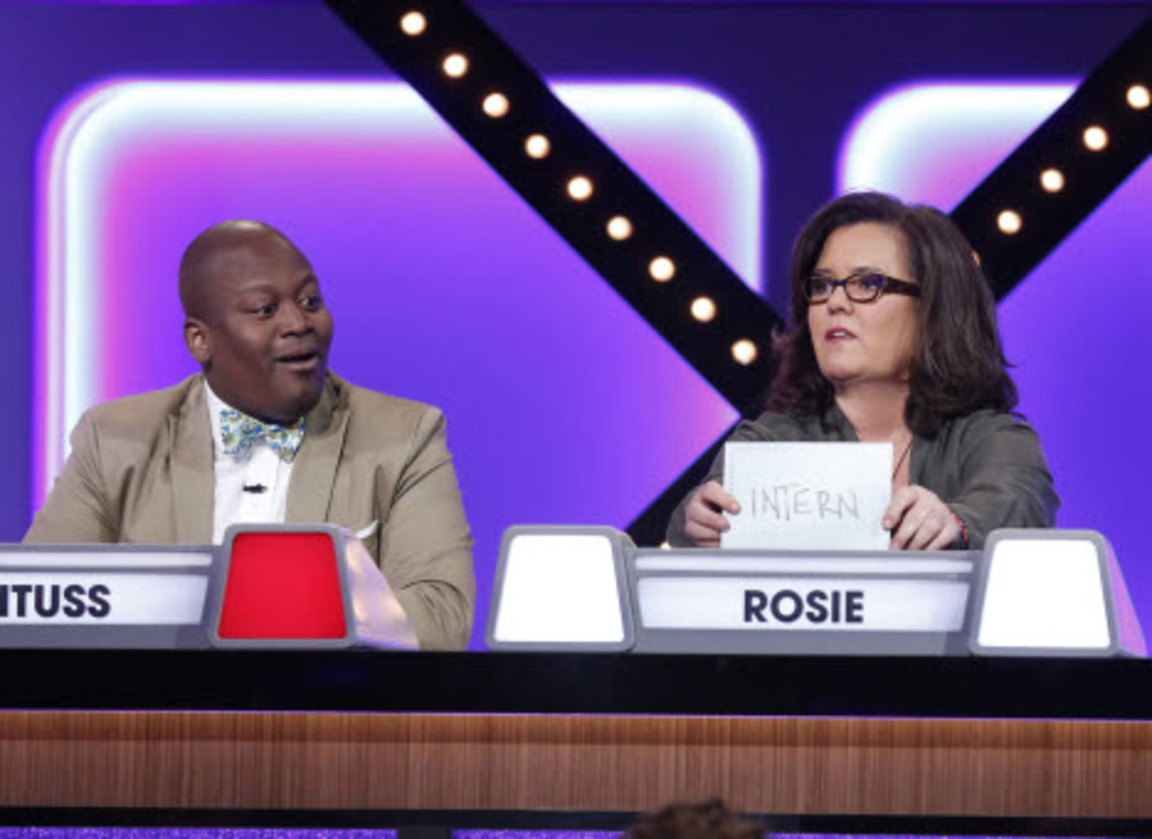 Match Game - Season 1 Episode 03: Ana Gasteyer, Bobby Moynihan, Maggie Q, Pete Wentz, Rosie O'Donnell and Tituss Burgess.