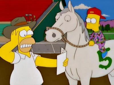 The Simpsons - Season 11 Episode 13: Saddlesore Galactica
